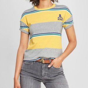 Junk Food Atari Striped Short Sleeve T-Shirt Top